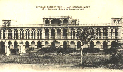 Ancienne carte postale du Palais de Koulouba