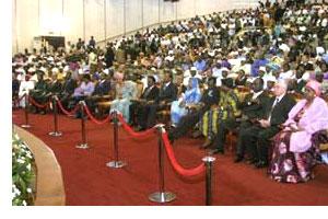 Du beau monde à cette cérémonie d'investiture du président de la République Amadou Toumani Touré