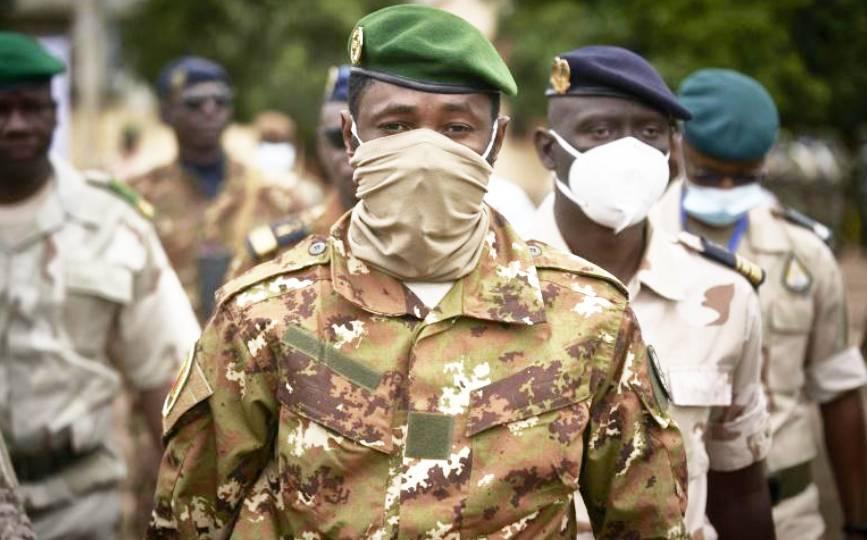 Le colonel Assimi Goïta, le 18 septembre 2020 à Bamako, au Mali. afp.com - MICHELE CATTANI