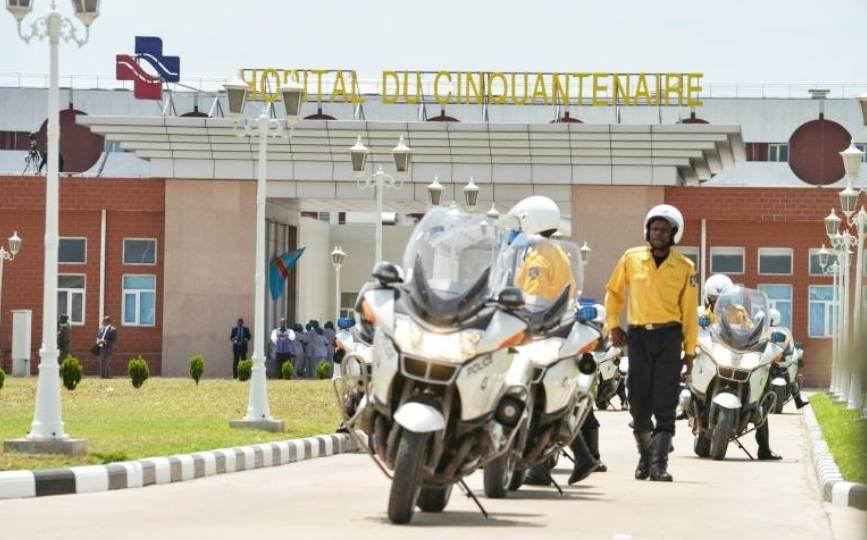 Inauguration de l'hôpital du Cinquantenaire à Kinshasa le 22 mars 2014, achevé grâce à la coopération sino-congolaise pour environ 100 millions de dollars. afp.com - Junior D. Kannah