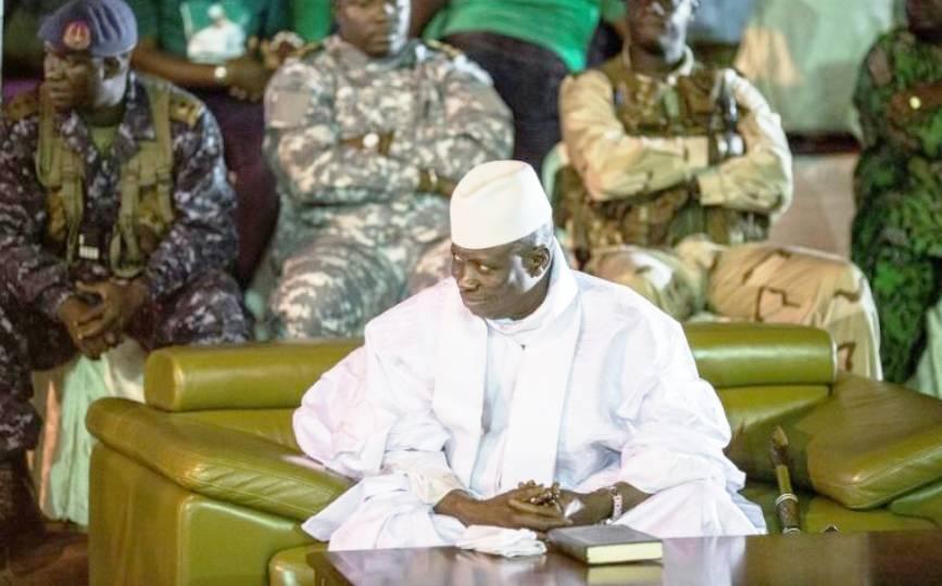Le président gambien sortant Yahya Jammeh à Banjul, le 29 novembre 2016. afp.com - MARCO LONGARI