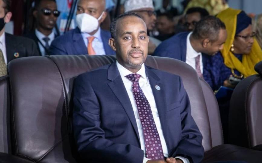Le Premier ministre Mohamed Hussein Roble, le 27 mai 2021 à Mogasdicio, en Somalie afp.com - Abdirahman Yusuf