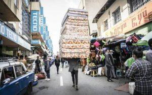 Dans le quartier historique de Merkato, à Addis Abeba, le 8 septembre 2021. afp.com - Amanuel Sileshi