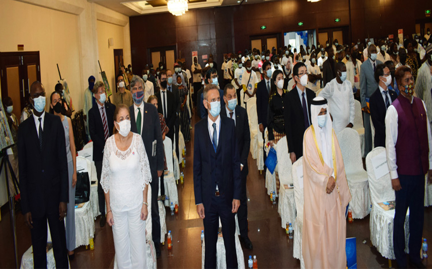 Les participants lors de la célébration de la Journée internationale de la paix