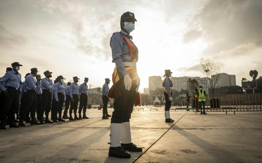 Cérémonie en soutien aux troupes éthiopiennes combattant en Amhara et en Afar, à Addis Abeba le 6 septembre 2021 afp.com - Amanuel Sileshi