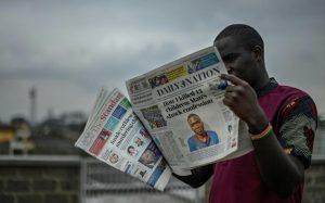 L'assassin présumé à la une des journaux kenyans le 15 juillet 2021 afp.com - SIMON MAINA