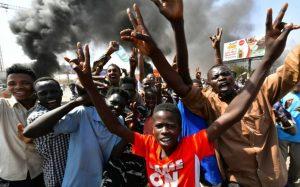 Manifestation contre le coup d'Etat militaire, le 25 octobre 2021 à Khartoum, au Soudan afp.com - -
