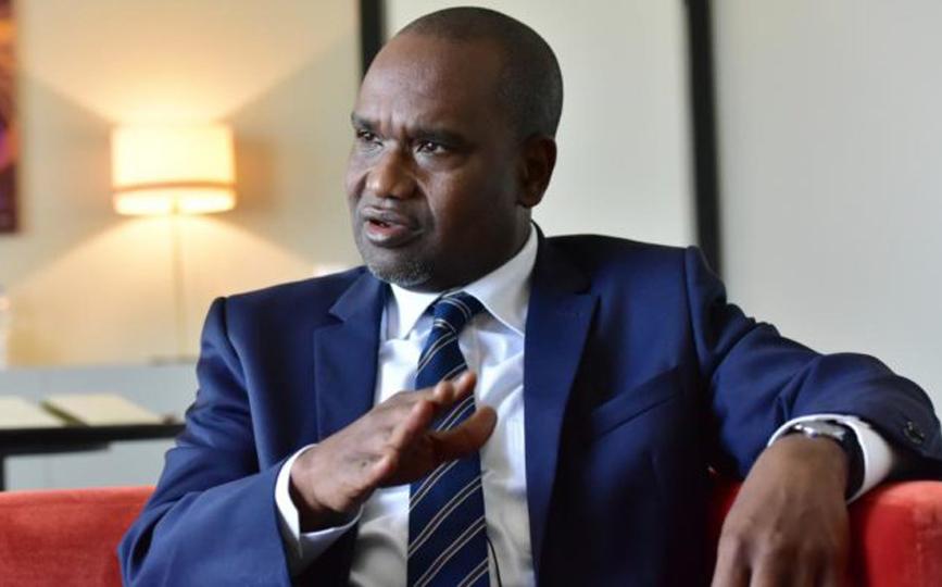 Alpha Barry, ministre des Affaires étrangères du Burkina Faso.ISSOUF SANOGO / AFP