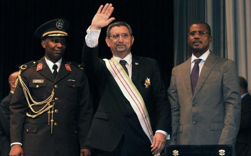Le président capverdien sortant Jorge Carlos Fonseca, lors de sa prise de fonctions à Praia le 9 septembre 2011 afp.com - SEYLLOU