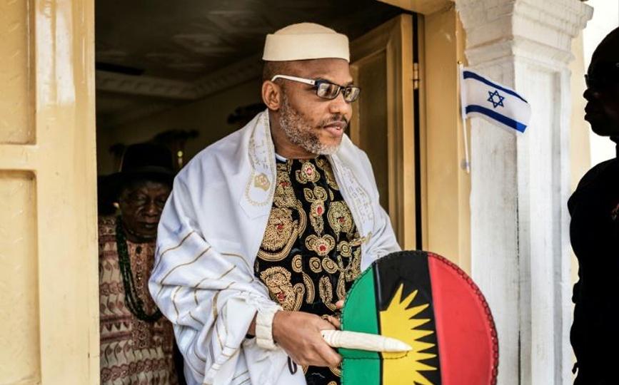Nnamdi Kanu chez lui à Umuahia, le 26 mai 2017 au Nigeria afp.com - MARCO LONGARI