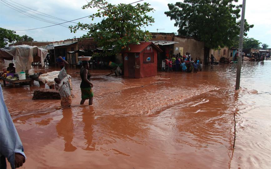 Les inondations sont fréquentes dans la capitale pendant l'hivernage
